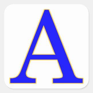 Blauwe Brief een Sticker