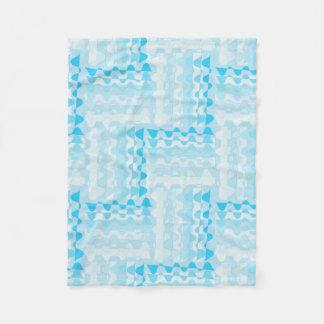 Blauwe bunting deken