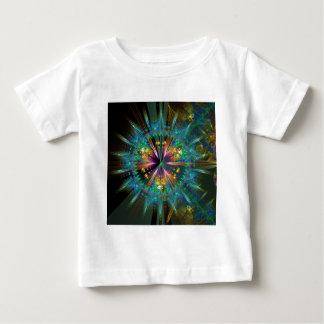 Blauwe Caleidoscopische Zonnestraal Baby T Shirts