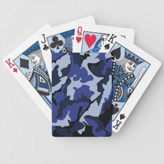 Blauwe Camo, de Speelkaarten van de Fiets Bicycle Speelkaarten