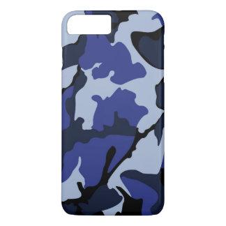 Blauwe Camo, iPhone 7 plus nauwelijks daar Hoesje
