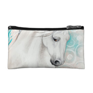 Blauwe $ce-andalusisch Paarden Make-up Bag