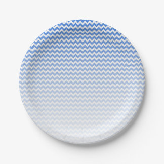 Blauwe Chevron Papieren Bordje