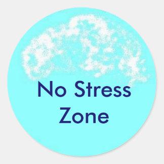 blauwe cirkel, Geen Streek van de Spanning Ronde Sticker