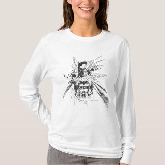 Blauwe Cityscape van Batman T Shirt