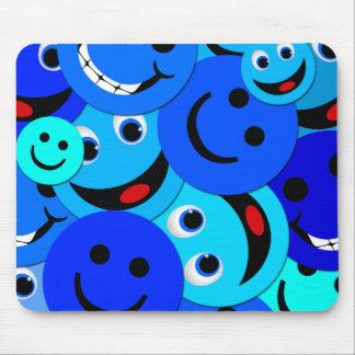 BLAUWE COLLAGE SMILEYS MUISMAT