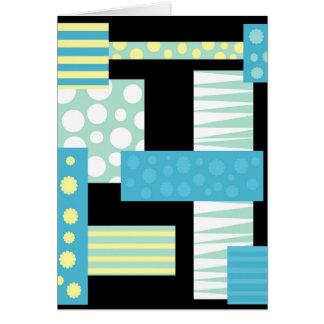 Blauwe collage wenskaart