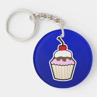 Blauwe Cupcake Sleutelhangers