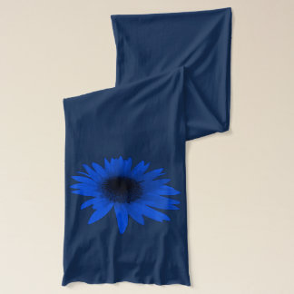Blauwe Daisy Blue Scarf Sjaal