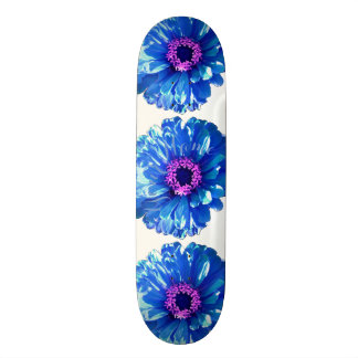 Blauwe Daisy Skateboard Deck