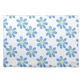 Blauwe Daisy Watercolor Pattern 2 Placemat