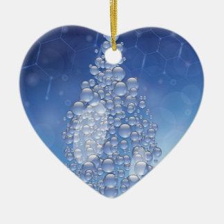 blauwe daling keramisch hart ornament