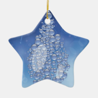 blauwe daling keramisch ster ornament
