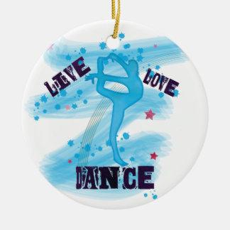 Blauwe Danser van de Dans van de Liefde van de Rond Keramisch Ornament