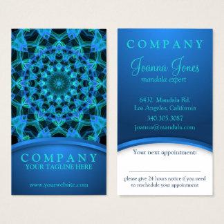 Blauwe de benoemingskaart van Mandala van Kwallen Visitekaartjes