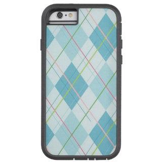 Blauwe de hoesje-Partner van de Plaid Taaie iPhone Tough Xtreme iPhone 6 Hoesje