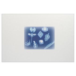 Blauwe Diamanten Fijne Fabrique Stof