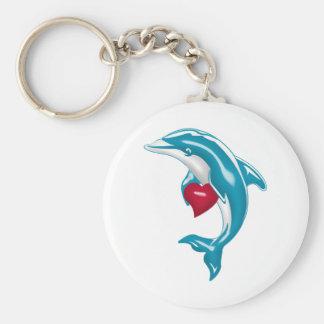 Blauwe Dolfijn Sleutelhanger