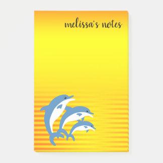 Blauwe Dolfijnen die in de Tropische Zon dansen Post-it® Notes