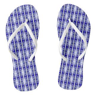 Blauwe draaien teenslippers