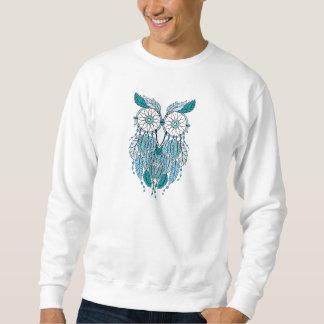 blauwe dreamcatcheruil trui
