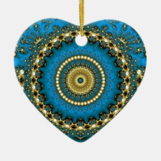Blauwe Droom Keramisch Hart Ornament