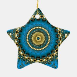 Blauwe Droom Keramisch Ster Ornament