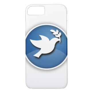 Blauwe Duif van Vrede iPhone 7 Hoesje