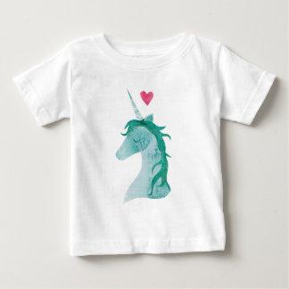Blauwe Eenhoorn Magisch met Hart Baby T Shirts