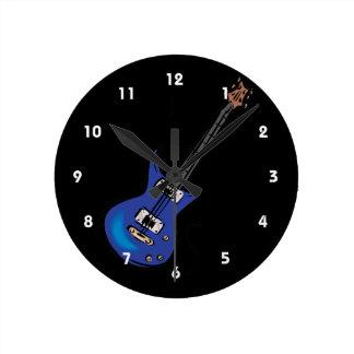 blauwe elektrische gitaarmuziek graphic.png ronde klok