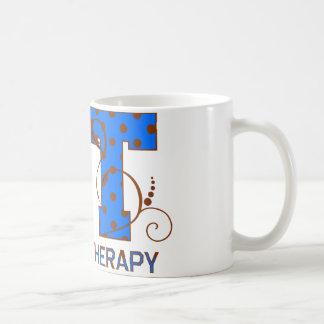Blauwe en Bruine Stippen Koffiemok