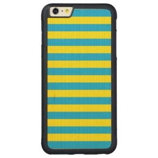 Blauwe en Gele Horizontale Strepen