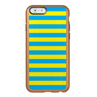 Blauwe en Gele Horizontale Strepen Incipio Feather® Shine iPhone 6 Hoesje