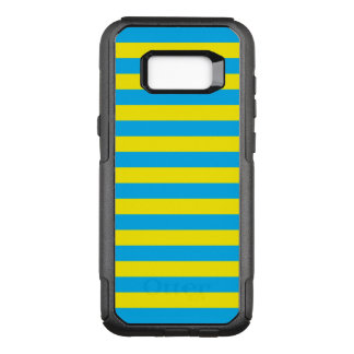 Blauwe en Gele Horizontale Strepen OtterBox Commuter Samsung Galaxy S8+ Hoesje