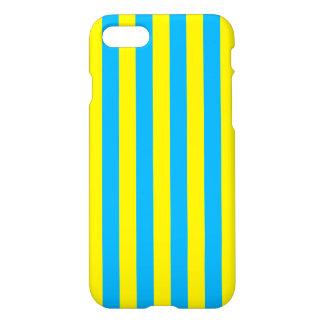 Blauwe en Gele Verticale Strepen iPhone 8/7 Hoesje