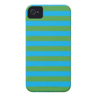 Blauwe en Groene Horizontale Strepen iPhone 4 Hoesje