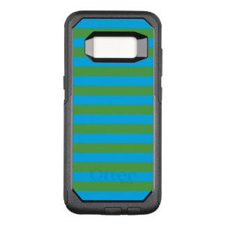 Blauwe en Groene Horizontale Strepen OtterBox Commuter Samsung Galaxy S8 Hoesje
