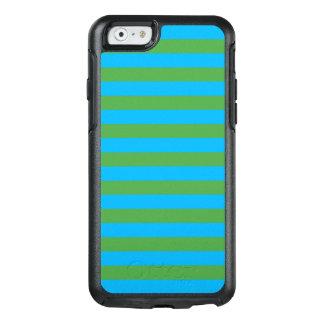 Blauwe en Groene Horizontale Strepen OtterBox iPhone 6/6s Hoesje