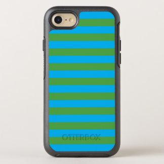 Blauwe en Groene Horizontale Strepen OtterBox Symmetry iPhone 8/7 Hoesje