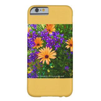Blauwe en Oranje iPhone 6 van Bella het Gele Barely There iPhone 6 Hoesje