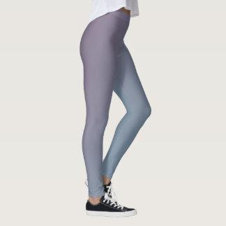 Blauwe en Paarse Gradiënt Leggings