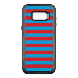 Blauwe en Rode Horizontale Strepen OtterBox Commuter Samsung Galaxy S8+ Hoesje