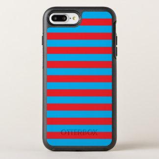 Blauwe en Rode Horizontale Strepen OtterBox Symmetry iPhone 8 Plus / 7 Plus Hoesje