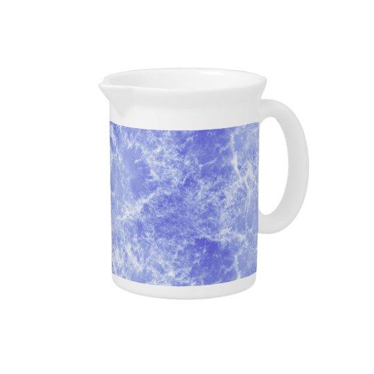 Blauwe en Witte OceaanWolken Drank Pitchers