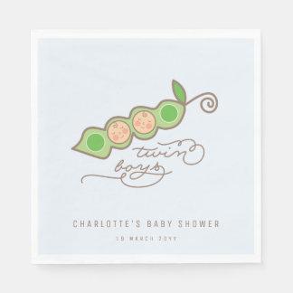 Blauwe Erwten in een Partij van het Baby shower Wegwerp Servetten