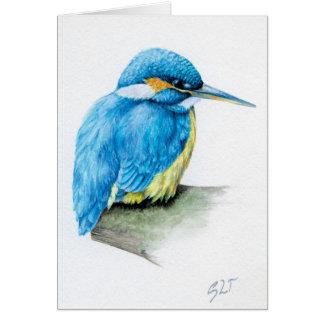 Blauwe fijne de kunstkaart van de Ijsvogel Kaart