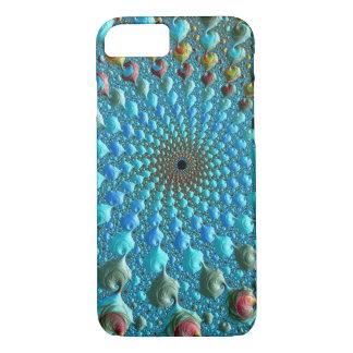 Blauwe Fractal Draaikolk iPhone 8/7 Hoesje
