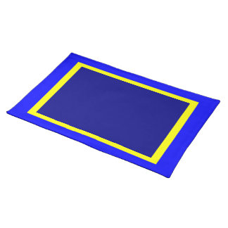 Blauwe Geel en Marine Placemat