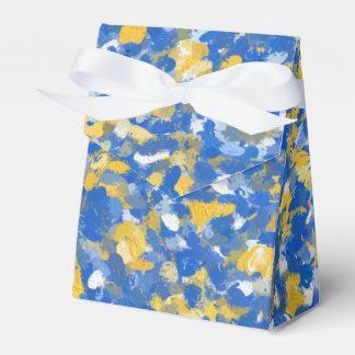 Blauwe, Gele en Witte Plonsen 8200 van de Verf Bedankdoosjes