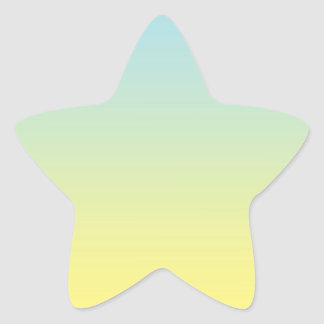 Blauwe & Gele Ombre Ster Sticker